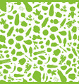 seamless pattern with vegetablesbackground vector image vector image