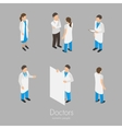 Set of doctors vector image