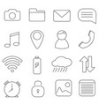 set of icons in line style communication message vector image vector image