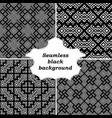 set of ornamental patterns for textures vector image vector image