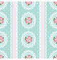 shabby chic rose seamless pattern on polka dot vector image vector image