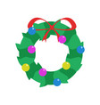 simple garland decoration vector image