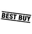 square grunge black best buy stamp vector image vector image