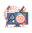 target market strategy concept for web vector image