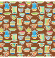tea cup seamless background vector image vector image