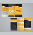 three fold business brochure template vector image vector image