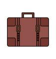 travel suitcase vintage vector image