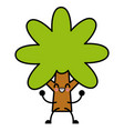 Tree nature symbol cute kawaii cartoon