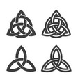 trinity symbol filled and outlined style vector image vector image