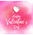 valentines day background with watercolour texture vector image