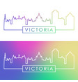 victoria skyline colorful linear style editable vector image vector image