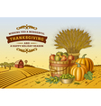 Vintage Thanksgiving Landscape