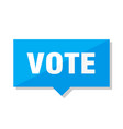 vote price tag vector image vector image
