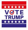 vote trump us american presidential election 2020 vector image