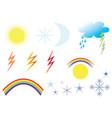 weather symbols vector image vector image