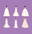 wedding bride dress elegance style celebration vector image vector image