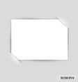 White note paper vector image vector image