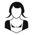 Woman simple icon vector image vector image