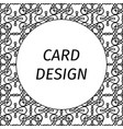 card design with filigree linear art vector image