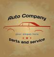 label car logo vector image