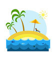 Relaxing Guy on a Tropical Island vector image