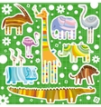 African Animals Color Background vector image