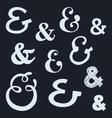 ampersands vector image vector image
