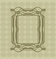 art nouveau smooth lines decorative rectangle vector image vector image