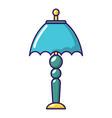 bedroom lamp icon cartoon style vector image vector image