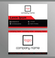 best business card on red and black vector image vector image