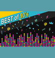 best of 90s retro poster vector image vector image