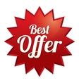 Best offer tag Red sticker icon vector image vector image