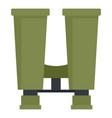 binoculars icon flat style vector image vector image