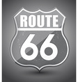 Black and white grunge route 66 sign vector image vector image