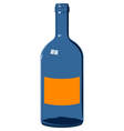 blue glass bottle vector image vector image