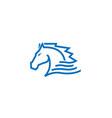 blue horse logo vector image vector image
