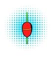 Bobber icon comics style vector image vector image
