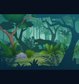 cartoon tropical jungle rainforest vector image