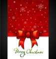 Christmas Greeting Card red background with vector image vector image