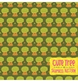Cute cartoon tree oak seamless pattern vector image vector image
