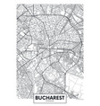 detailed poster city map bucharest vector image