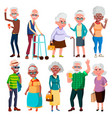 elderly people grandfather and grandmother vector image