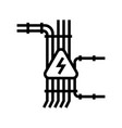 electric wiring line icon vector image vector image