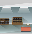 electronics store shop interior banner vector image vector image