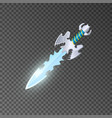 epic dagger isolated game element vector image vector image
