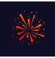 Firework background icon vector image vector image