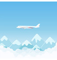 flat simple travel banner with aircraft vector image vector image