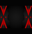 geometric background red and black color with vector image