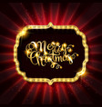 gold christmas banner with light bulbs vector image