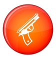 Gun icon flat style vector image vector image